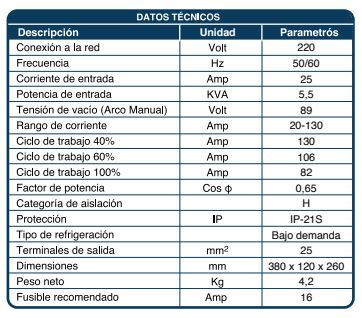 SOLDADORA INDURA ARCTIG 130 PRO DIGITAL